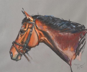 Molly - pastel on paper